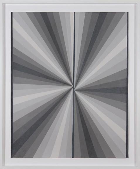 Mark Grotjahn Untitled (French Grey Fan 10%-90% Warm Grey 90% On Sides Cool Grey 90% Middle Line), 2007