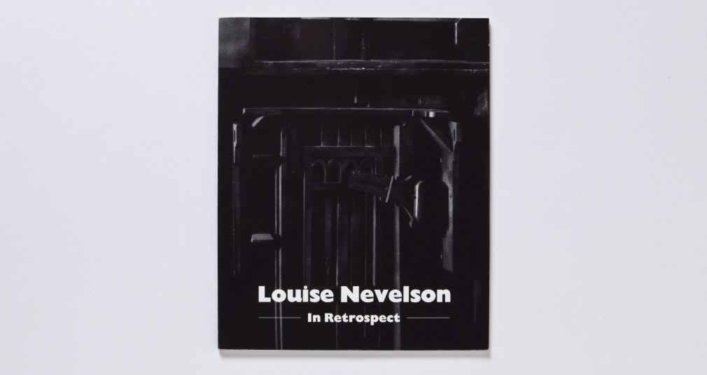 nevelson in retrospect catalogue