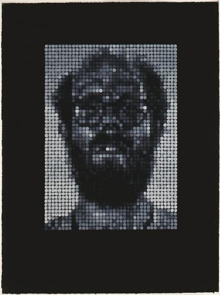 Self Portrait / Spitbite / White with Black, 1997