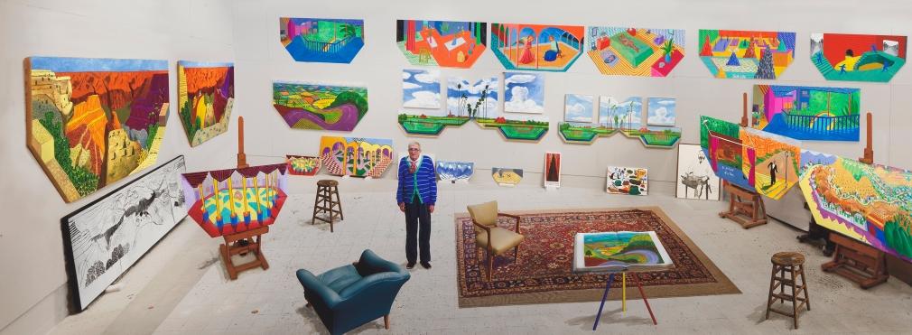 David Hockney, In the Studio, December 2017