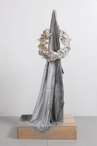 Untitled (Black Fabric & Wreath), 2012
