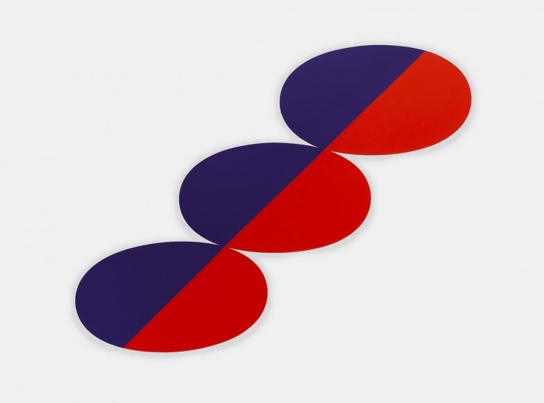 Constel: Blue Red straight line thru three Ovals, 1969