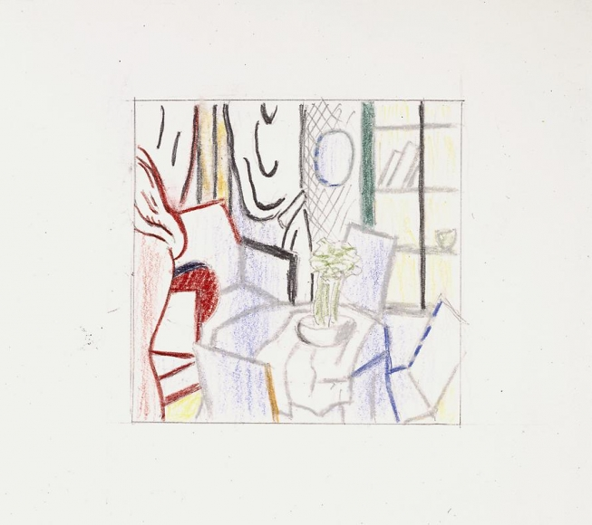 Interior with Nude Leaving, 1997