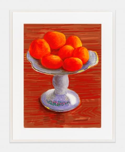 Tangerines, 2010, iPad drawing printed on paper