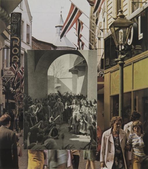 John Stezaker, Christ's Entry into Bergen, 2006 Collage