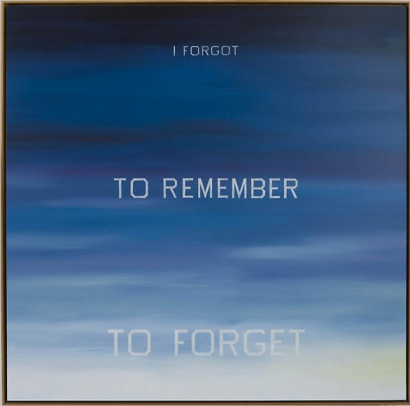 Ed Ruscha I Forgot to Remember to Forget, 1984