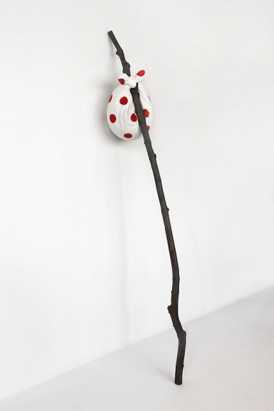 Debark, 2008 Patinated bronze, cast cotton paper and watercolor
