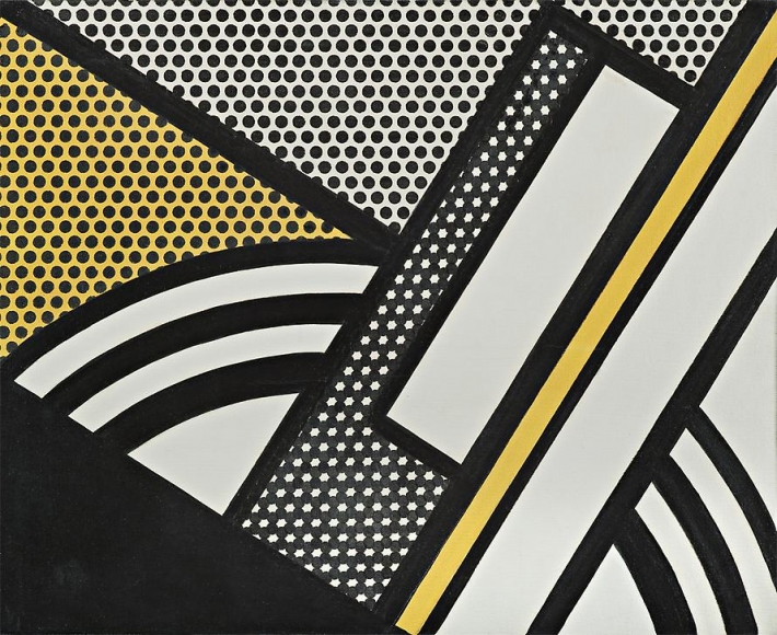 Modern Painting with Yellow Shaft, 1967