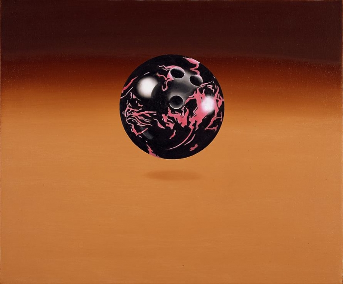Black and Pink Bowling Ball, 1972