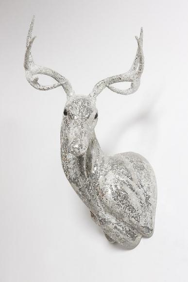 Untitled (Scraped Crystal Buck Head), 2012