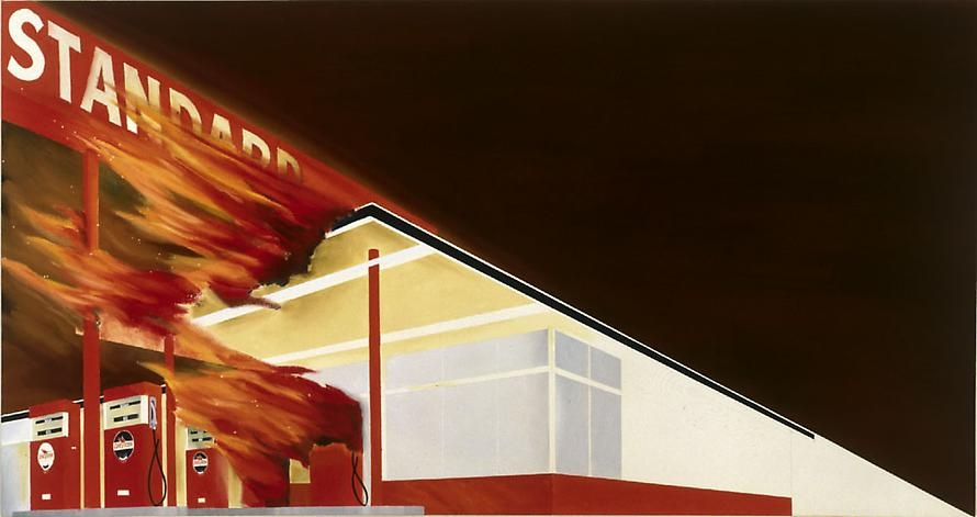 Ed Ruscha Burning Gas Station, 1965-66