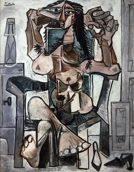 Femme nue assise, 1959
