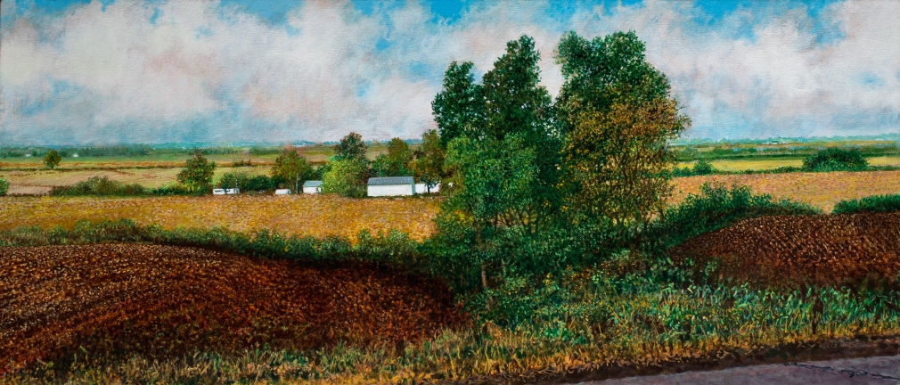 Harold Gregor Illinois Landscape #226 Oil and acrylic on canvas
