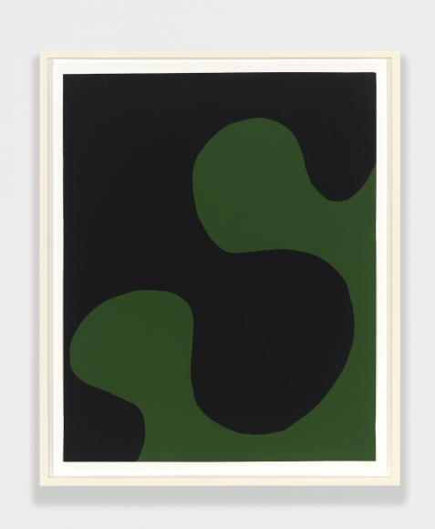 Leon Polk Smith, Untitled, 1958, black and green