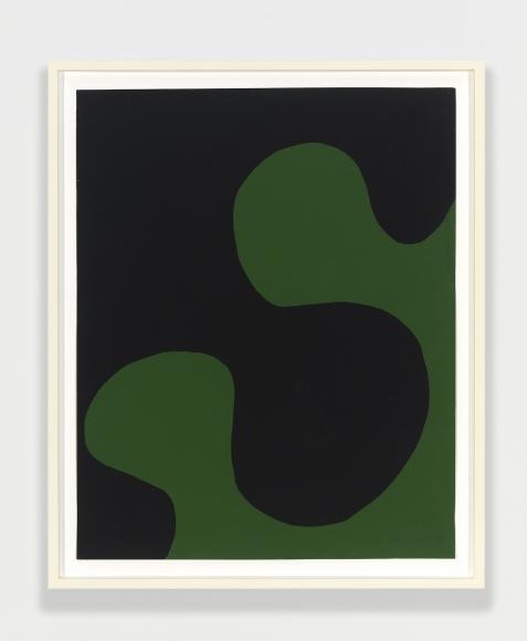 Leon Polk Smith, Untitled, 1958, black and green