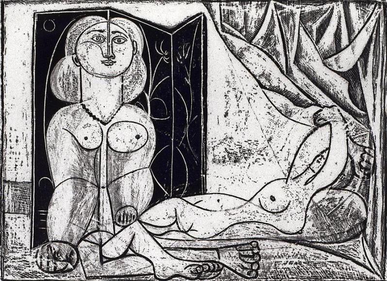 Les deux femmes nues, State #15, 1946