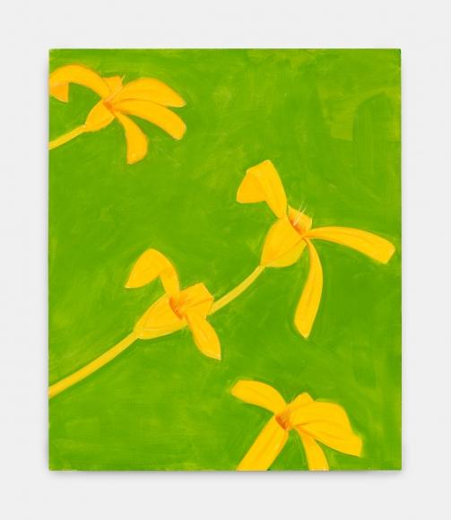 Alex Katz, Untitled, yellow-green, 2019