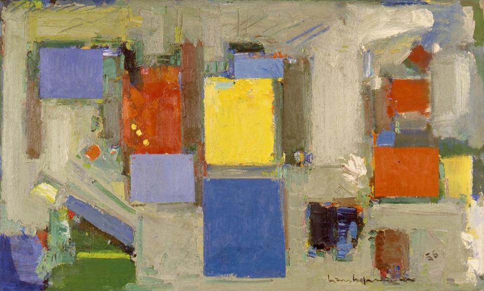 Blue on Grey, 1956
