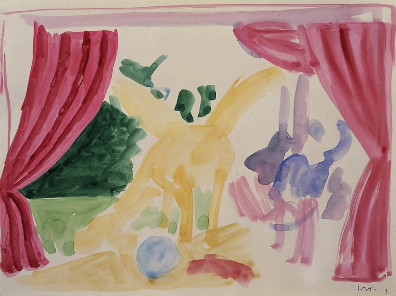 """Parade Curtain after Picasso from """"Parade Triple Bill"""", 1980"""