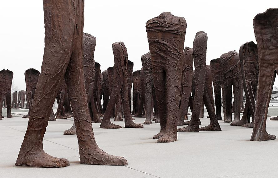 Agora, 2006 Permanent installation of 106 cast iron figures, each approximately 9 feet tall
