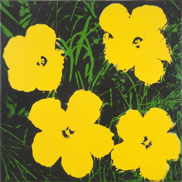 Flowers, 1964 Acrylic and silkscreen ink on canvas