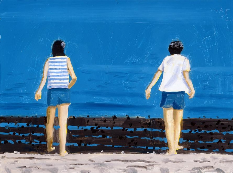 Two Figures Facing Bay, 2002