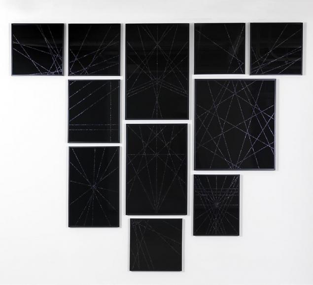 Untitled (Black Geometric II), 2008-09