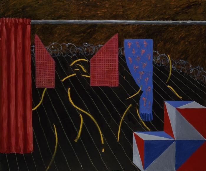 "Parade Set with Curtain & Blocks from ""Parade Triple Bill"", 1980"