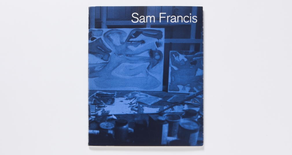 sam francis blue forms 1997 catalogue