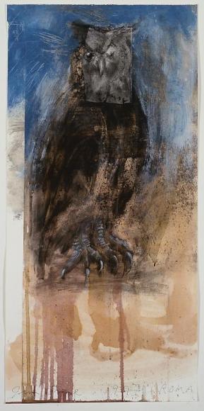 Owl on Blue, 1997