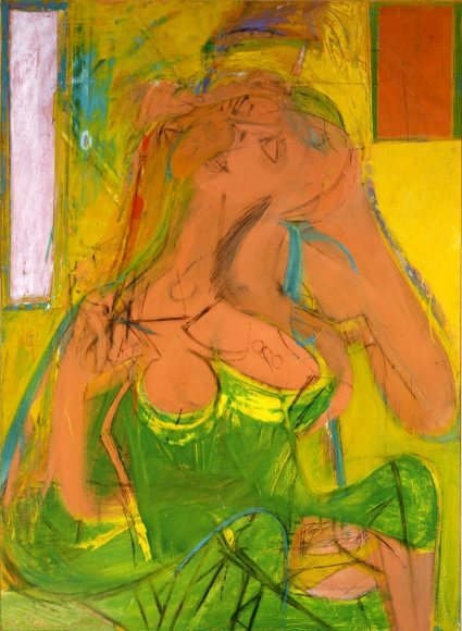 Willem de Kooning Pink Lady Oil and charcoal on panel