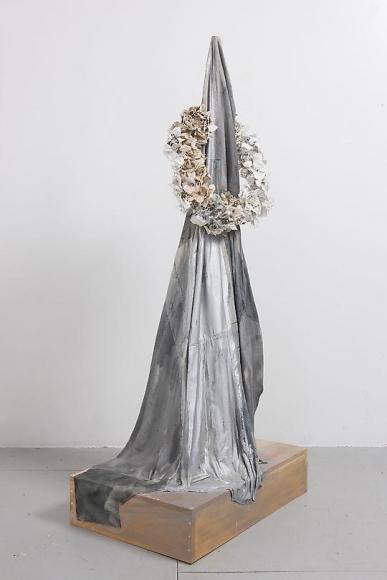 Marc Swanson Untitled (Black Fabric & Wreath), 2012
