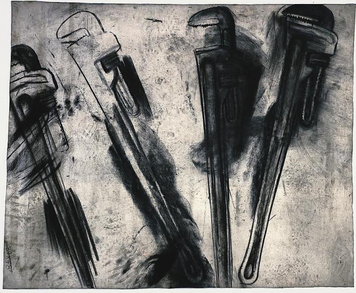 Elyria, 2000 Charcoal on etching felt