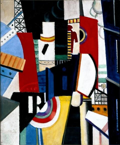 """Fernand Léger Esquisse pour """"La Ville"""" Oil on canvas"""