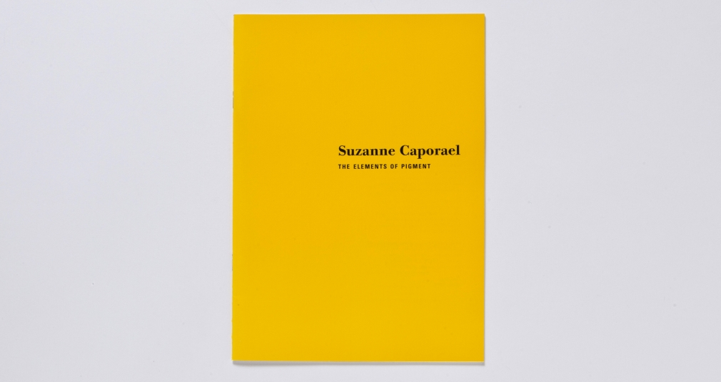suzanne caporael the elements of pigment catalogue