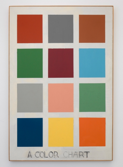 A Color Chart, 1963, Oil on canvas, charcoal text