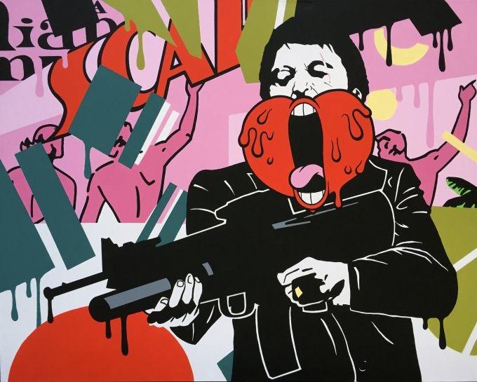 "Antoine Tava, ""Screaming Heart Scarface"", Galerie LeRoyer"