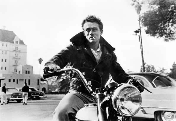 James Dean, On Motorcycle, Los Angeles, 1955