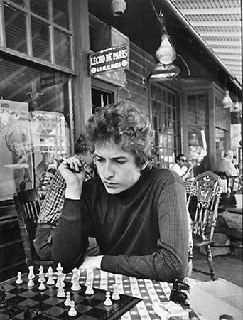 Bob Dylan Playing Chess, Woodstock, NY, 1964
