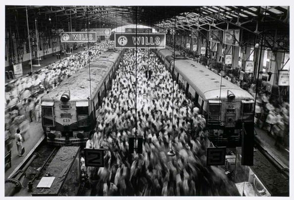 Church Gate Station, Western Railroad Line, Bombay, India 1990