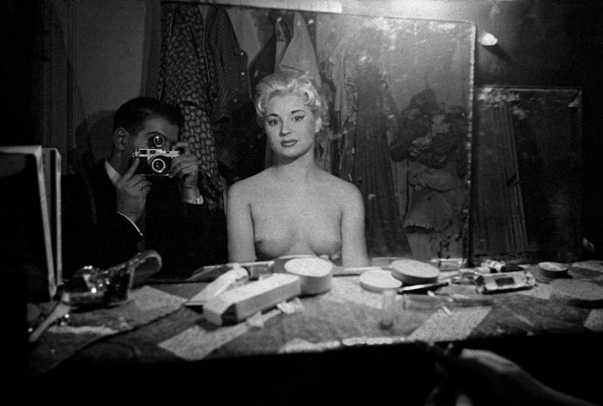 Le Sphynx, (Self-Portrait with Stripper), Paris, France (c), 1956