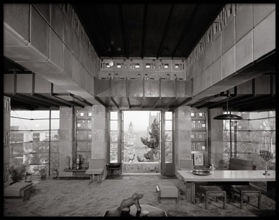 Freeman House, Frank Lloyd Wright, Los Angeles, California, 1953