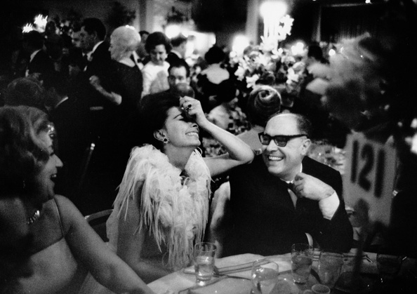 Sophia Loren and Carlo Ponti at the Academy Awards Dinner, 1962
