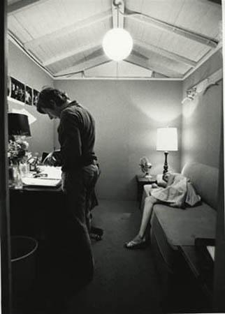 Roman Polanski and Mia Farrow on the Paramount Studios set of Rosemary's Baby, Hollywood, California, 1967
