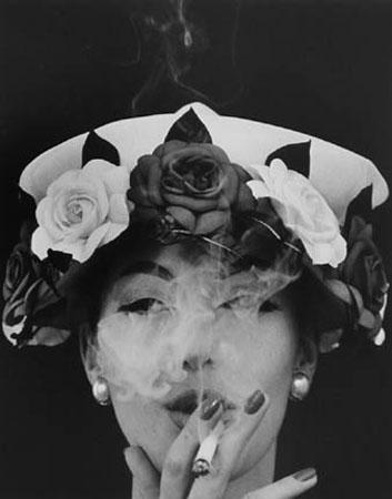Hat + Five Roses, Paris (Vogue), 1956