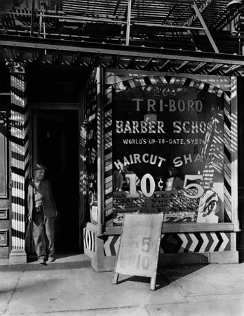 Tri-Boro Barber School, New York, 1935