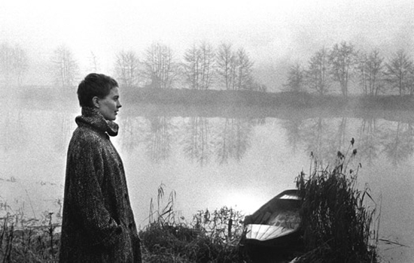 Jean Seberg visiting the haunts of Saint Joan, the Loire River, France, 1956