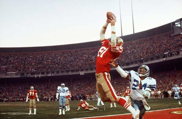 """The Catch"" Dwight Clark, San Francisco, 1981"