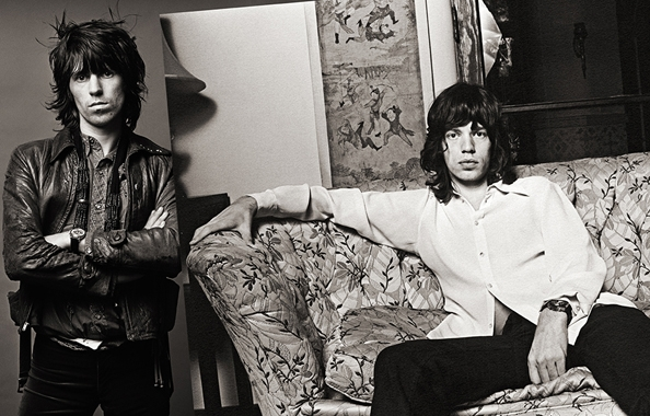 Keith Richards & Mick Jagger, Los Angeles, 1972