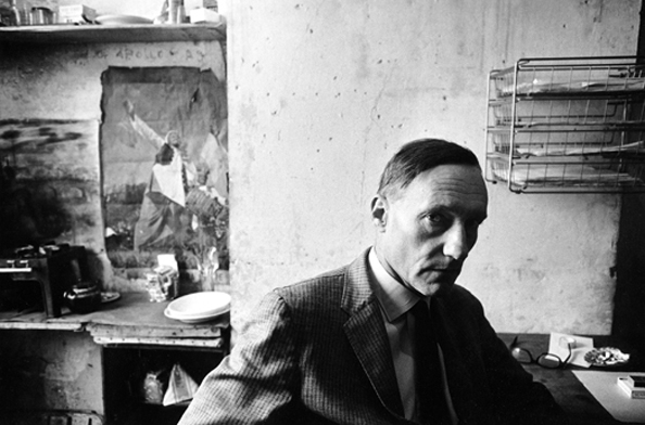 William Burroughs photographed in his Paris apartment, 1962